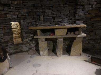 Interior of Stone Age hut